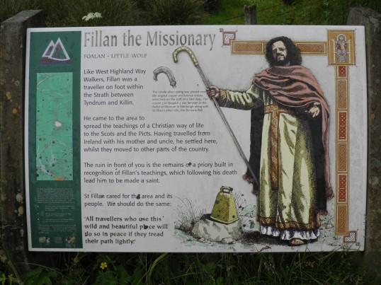 Information board at St Fillans