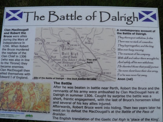 Battle of Dalrigh information board