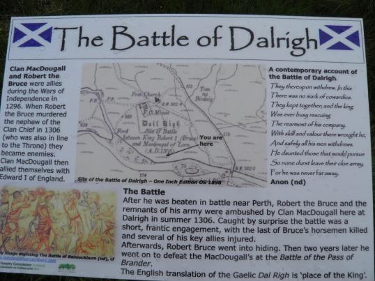 Battle of Dalrigh information board