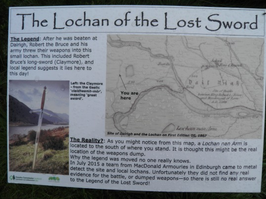 Lochan of the lost sword information board