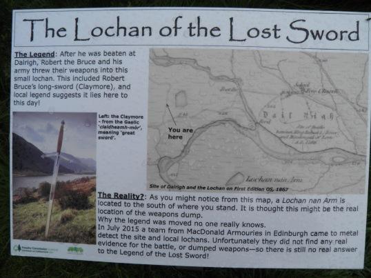 Lochan of the lost sword information board