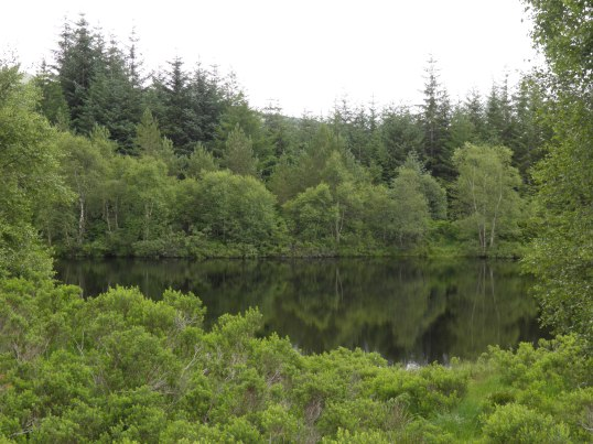 Reflective waters of the lochan