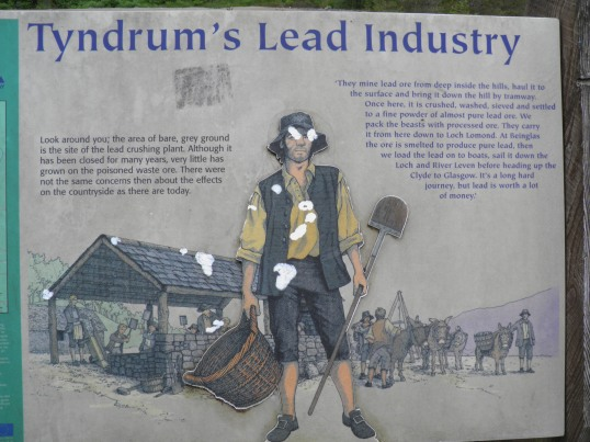 Lead Mining Information board