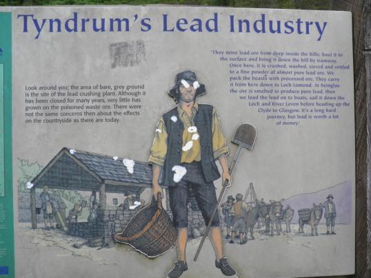 Lead Mining Information board