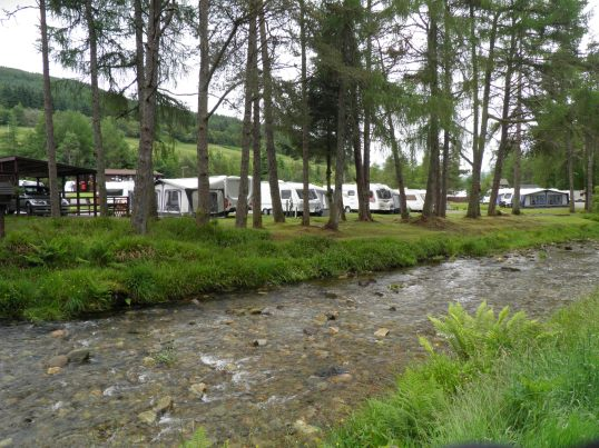 Caravan park at Tyndrum
