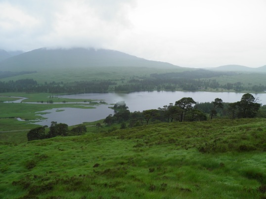 Rain over Loch Tulla