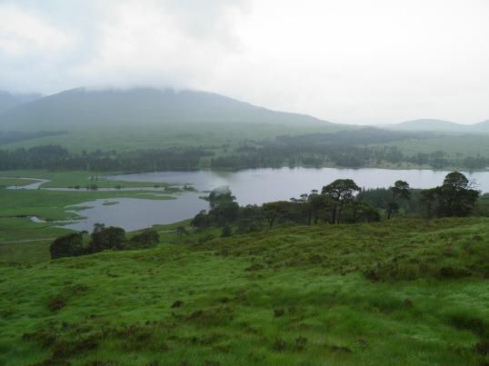 Rain over Loch Tulla