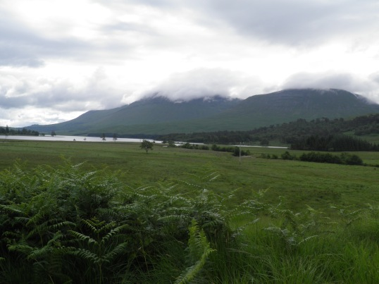 Looking back towards Loch Tulla