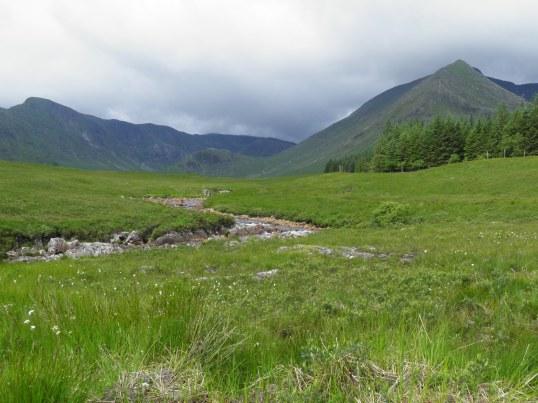 River running across Rannoch moor
