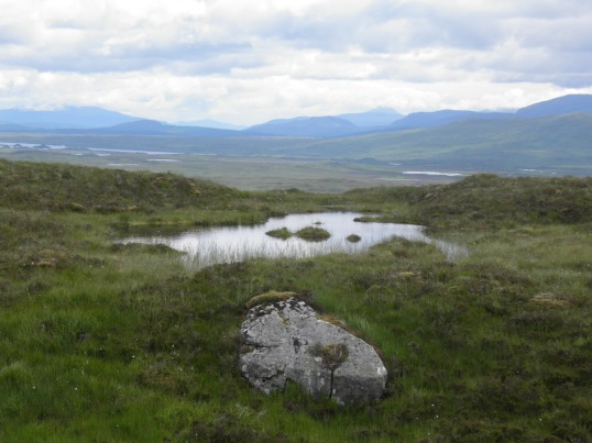 Rannoch Moor rolls east into the distance