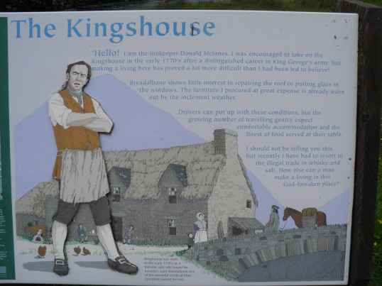 Information board at Kingshouse