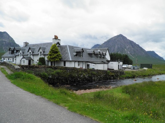 Buachaille Etive More behind the Kingshouse hotel