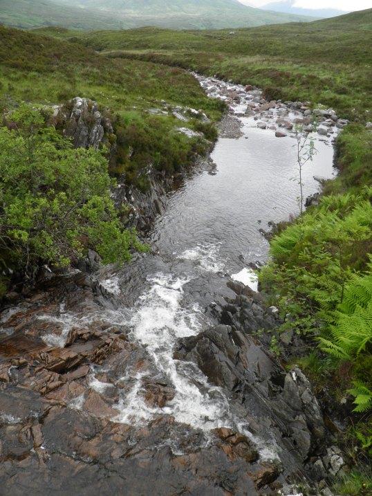 River under the footbridge
