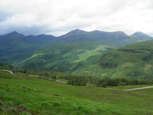 Mountains on route to Kinlochleven