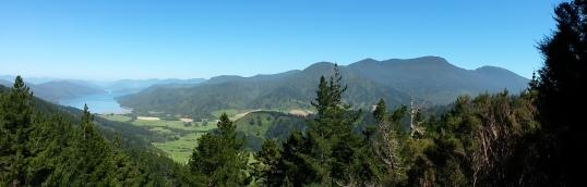Kenepuru Sound and valley panorama