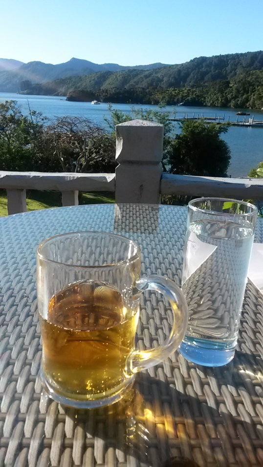 A well-deserved cider with a view