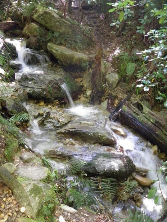 Path crossing a stream