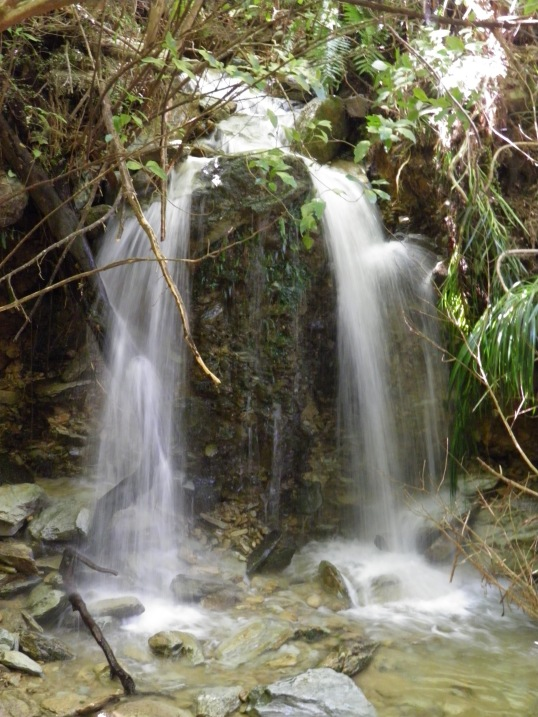Waterfall near the end of the track