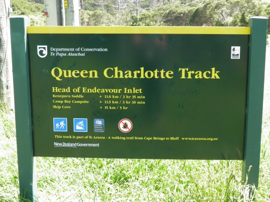 DOC sign at Head of Endeavour Inlet