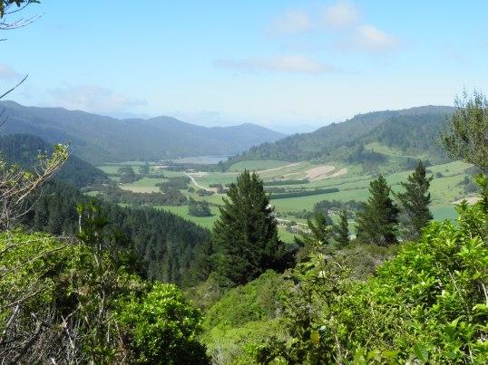 Kenepuru Sound peaks into view