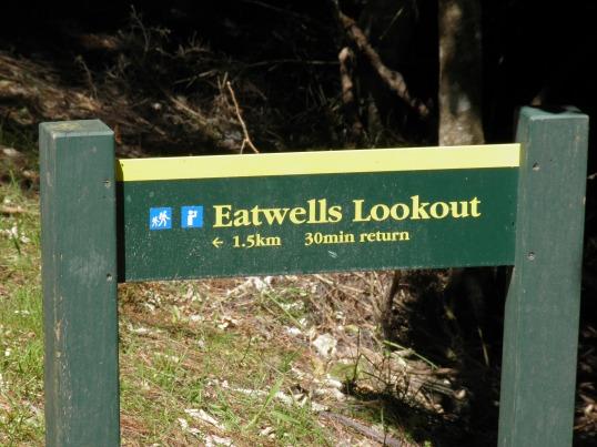 Eatwells Lookout signage