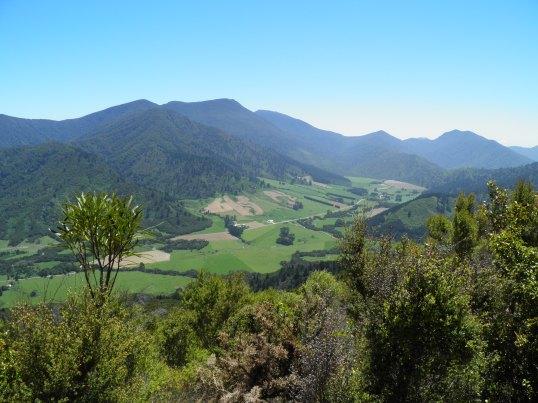 Looking back up the valley towards Kenepuru Saddle